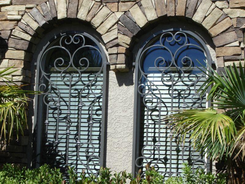 Scrollwork Window Guard WG0020 Wrought Iron Design In Las Vegas