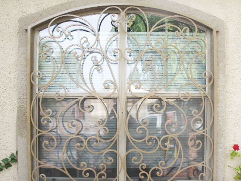 scrollwork Window Guard WG0054 Wrought Iron Design In Las Vegas
