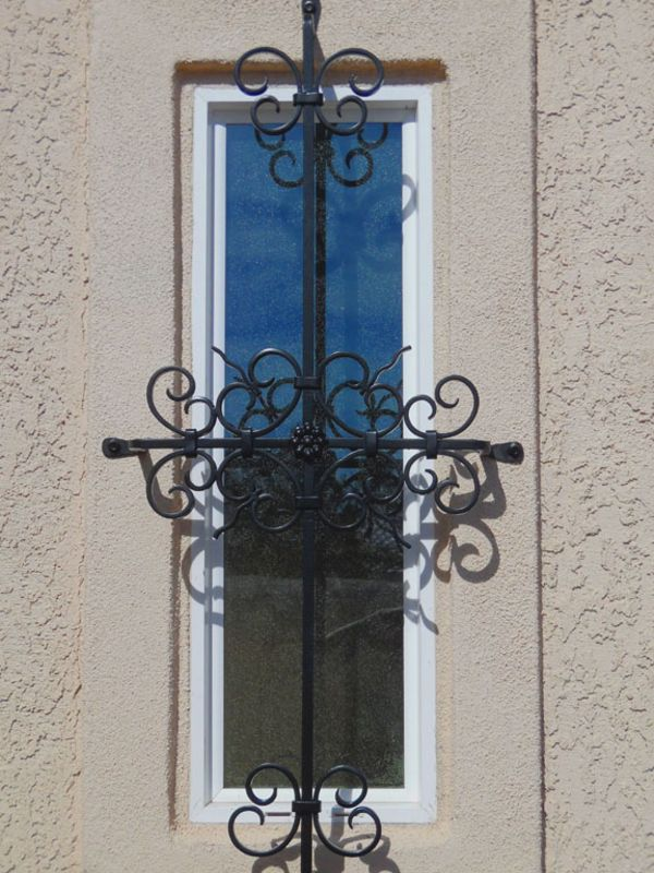 scrollwork Window Guard WG0071B Wrought Iron Design In Las Vegas