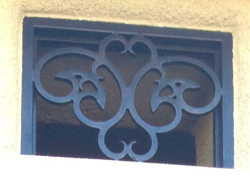 scrollwork Window Guard WG0075 Wrought Iron Design In Las Vegas