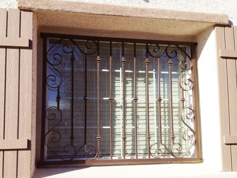 scrollwork Window Guard WG0085 Wrought Iron Design In Las Vegas