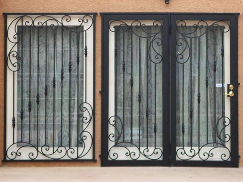 scrollwork Window Guard WG0092 Wrought Iron Design In Las Vegas