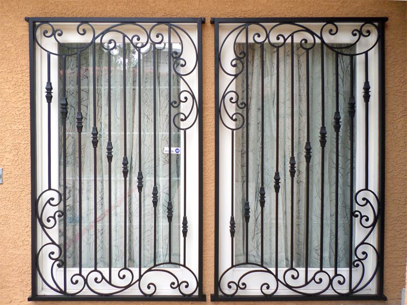 scrollwork Window Guard WG0092A Wrought Iron Design In Las Vegas
