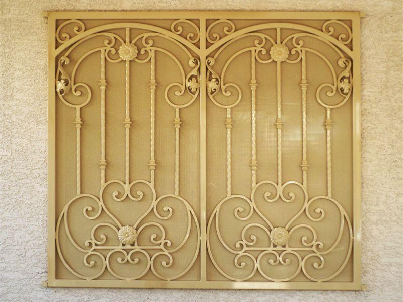 scrollwork Window Guard WG0100 Wrought Iron Design In Las Vegas