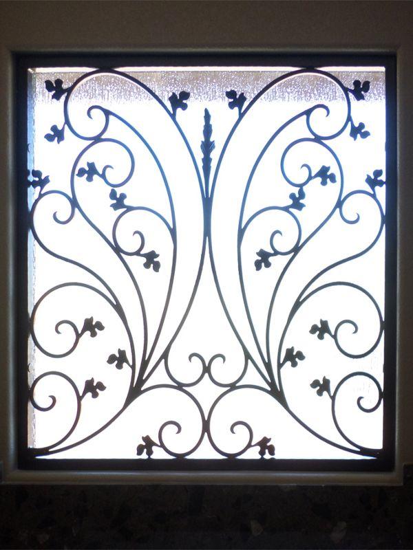 scrollwork Window Guard WG0102 Wrought Iron Design In Las Vegas