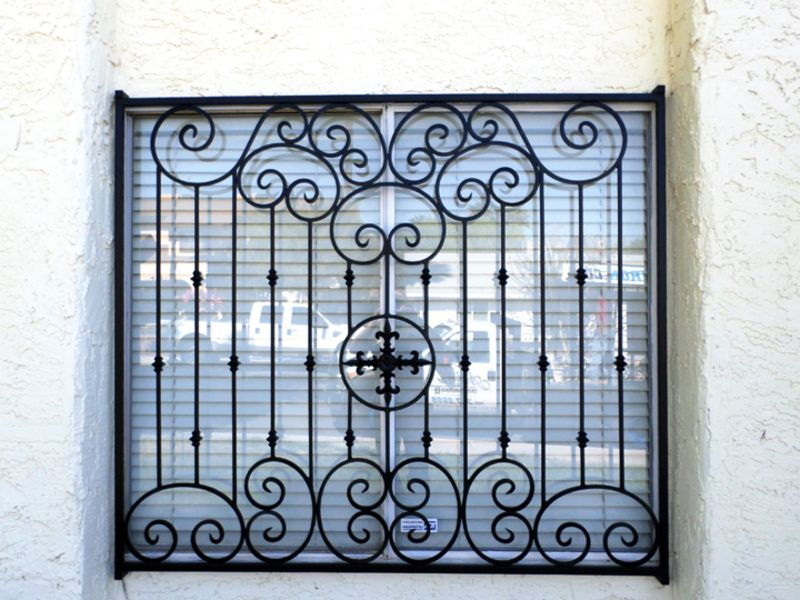 scrollwork Window Guard WG0105 Wrought Iron Design In Las Vegas