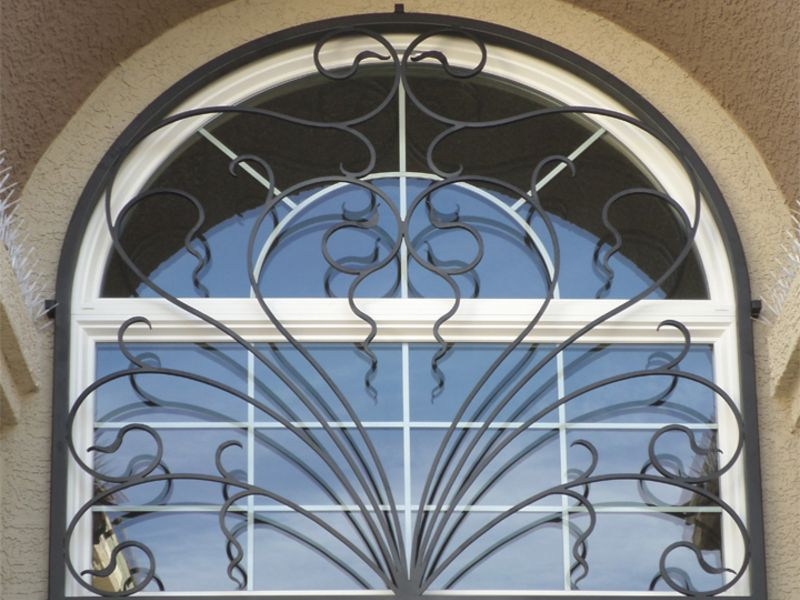 scrollwork Window Guard WG0106 Wrought Iron Design In Las Vegas