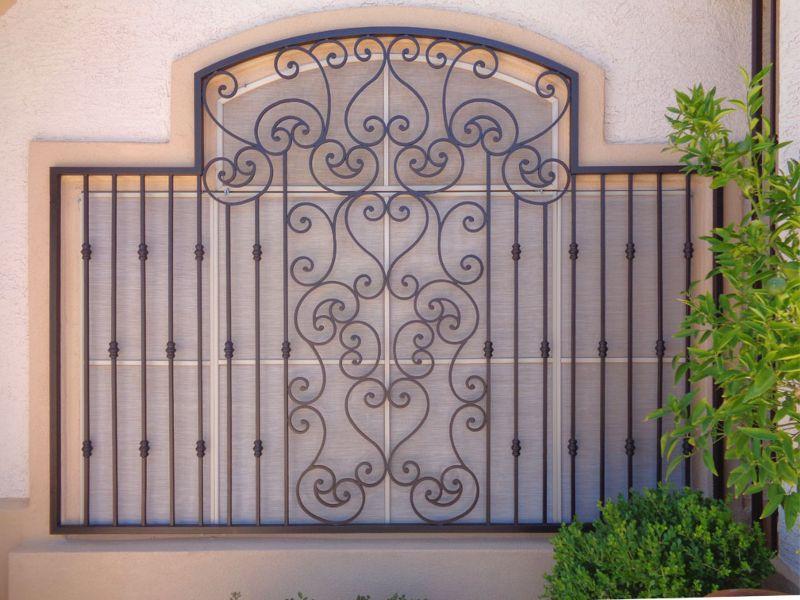 scrollwork Window Guard WG0113A Wrought Iron Design In Las Vegas