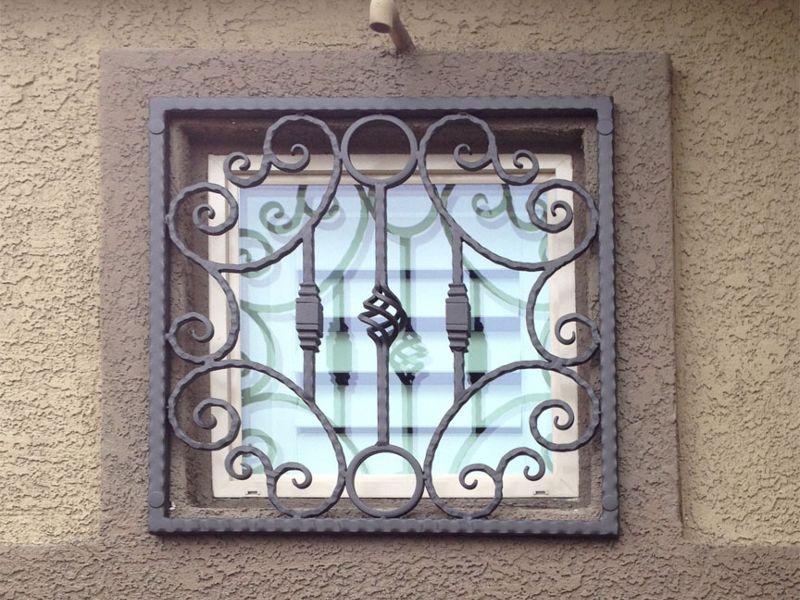 scrollwork Window Guard WG0121 Wrought Iron Design In Las Vegas