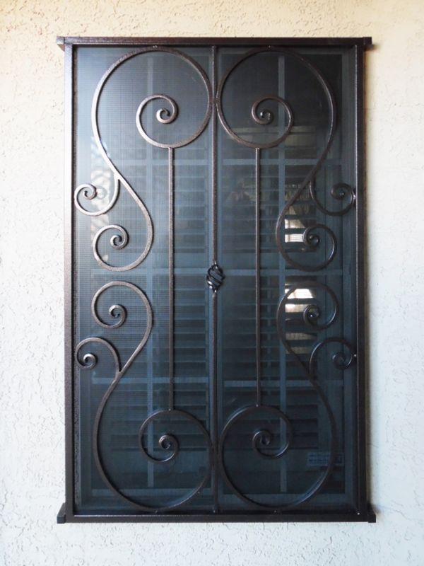 scrollwork Window Guard WG0129 Wrought Iron Design In Las Vegas