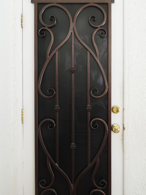 scrollwork Window Guard WG0131 Wrought Iron Design In Las Vegas