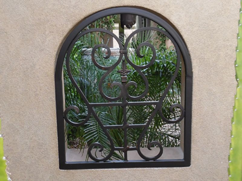 scrollwork Window Guard WG0137 Wrought Iron Design In Las Vegas