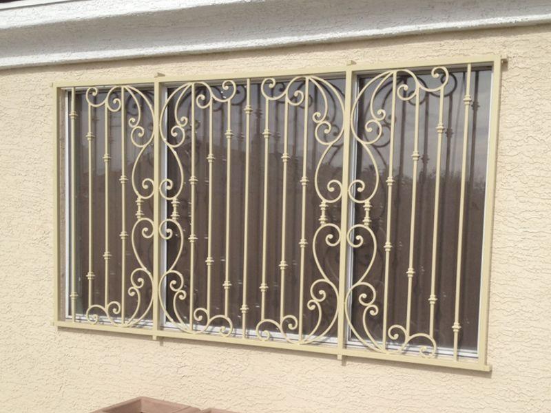 scrollwork Window Guard WG0138 Wrought Iron Design In Las Vegas