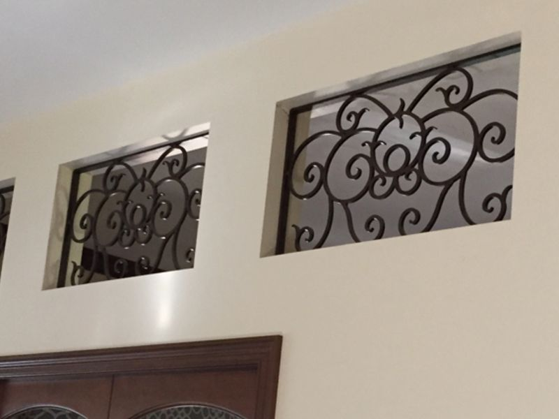 scrollwork Window Guard WG0139 Wrought Iron Design In Las Vegas