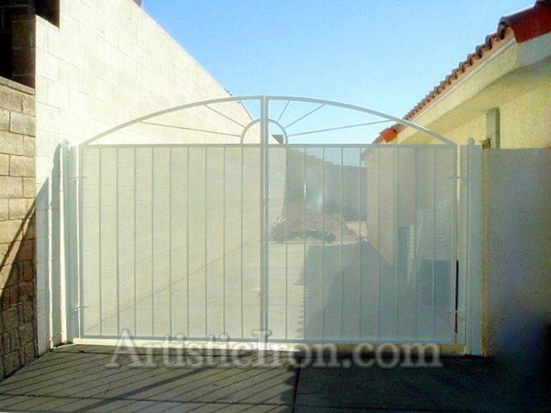 Nature Inspired Double Gate - Item SunburstDG0018 Wrought Iron Design In Las Vegas