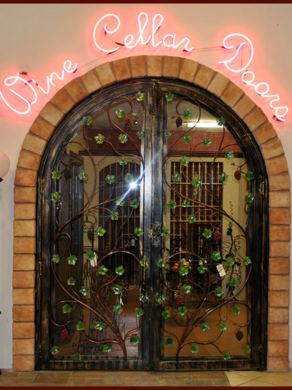 wine cellar doors WCD001 Wrought Iron Design In Las Vegas